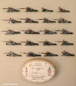 Heinrichsen: Infanterie liegend schießend, 1870 bis 1871