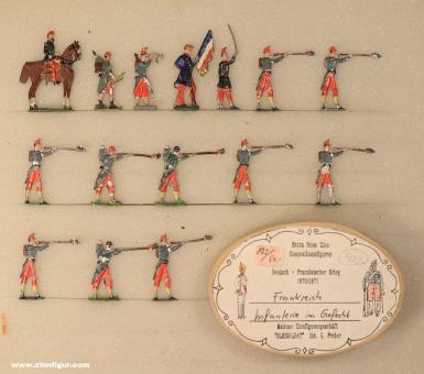 Verschiedene Hersteller: Infantry firing, 1859 bis 1870