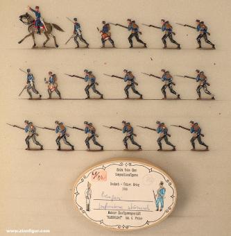 Diverse Hersteller: Infanterie in Feldmütze stürmend, 1864 bis 1870