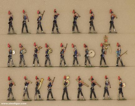 Diverse Hersteller: Infanteriemusik im Marsch spielend, 1871 bis 1918