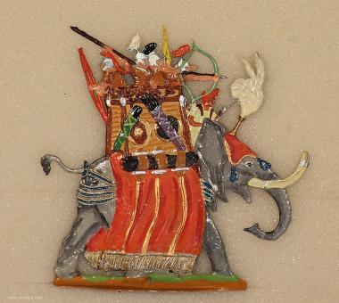 Kieler Zinnfiguren: Kriegselefant im Angriff, 3000 v.Chr. bis 400 n.Chr.