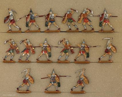 Kieler Zinnfiguren: Krieger zu Fuß im Angriff, 3000 v.Chr. bis 400 n.Chr.