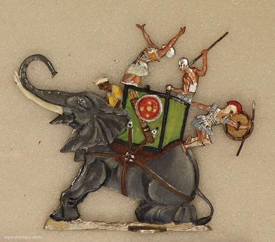 Menz: Verwundeter Kriegselefant, 3000 v.Chr. bis 400 n.Chr.