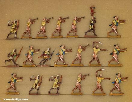 Kieler Zinnfiguren: Bogenschützen vorgehend, 3000 v.Chr. bis 400 n.Chr.