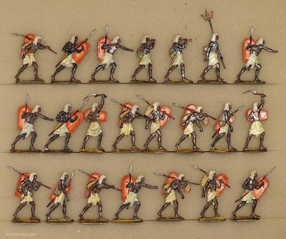 Hafer: Nubische Infanterie vorgehend, 3000 v.Chr. bis 400 n.Chr.