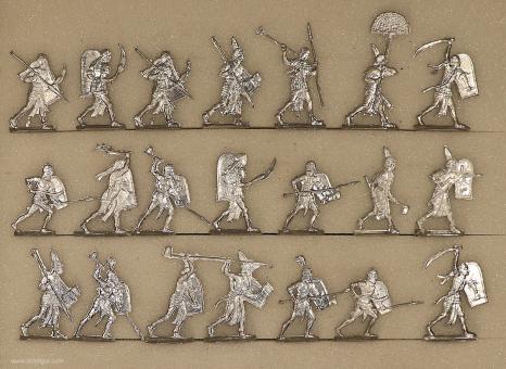 Kieler Zinnfiguren: Schwere Infanterie im Angriff, 3000 v.Chr. bis 400 n.Chr.