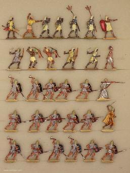Verschiedene Hersteller: Infanterie angreifend, 3000 v.Chr. bis 400 n.Chr.
