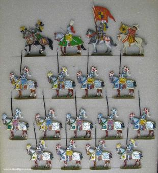 Versch.Hersteller: Gotische Ritter zu Pferd, 15. Jh.