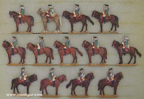 Versch.Hersteller: Dragoons at rest, 1756 bis 1763