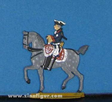 Kieler Zinnfiguren: Sonderfigur: König Friedrich II. zu Pferd, 1712 bis 1786