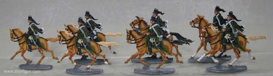 Diverse Hersteller: Belling-Husaren im Angriff, 1712 bis 1786
