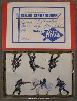Kilia (Ochel/Kiel): Preußische Flügelmützenhusaren abgesessen im Feuergefecht, 1756 bis 1763