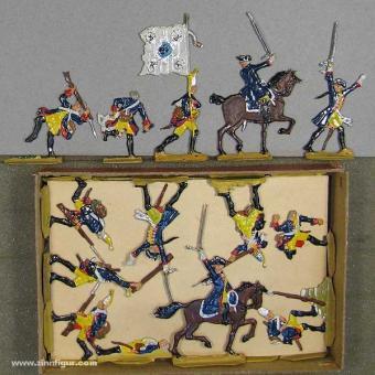 Versch.Hersteller: Infanterie, III. Bataillon Garde Regiment 15 im Nahkampf, 1756 bis 1763