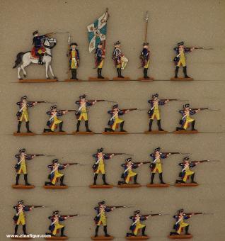 Berliner Zinnfiguren: Musketiere feuernd, 1712 bis 1786