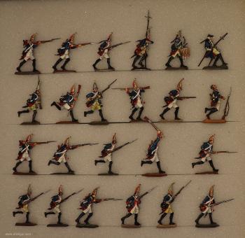 Verschiedene Hersteller: Grenadiere im Sturm, 1712 bis 1786