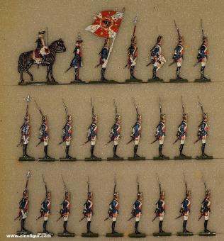 Grünewald: Fusiliers standing, 1712 bis 1786