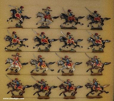 Heinrichsen: Husaren im Angriff, 1712 bis 1786