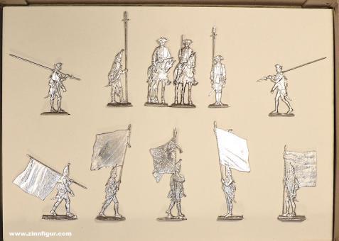 Berliner Zinnfiguren: Typentafel Scholtz Figuren, 1712 bis 1786