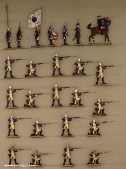 Berliner Zinnfiguren: Garde-Grenadiere feuernd, 1712 bis 1786