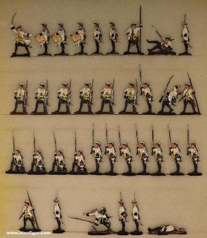 Berliner Zinnfiguren: Hungarian fusiliers ready to fire, 1712 bis 1786