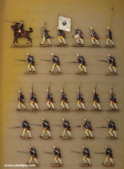 Berliner Zinnfiguren: Garde-Grenadiere im Sturm, 1712 bis 1786