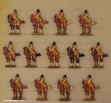 Berliner Zinnfiguren: Husaren im Halt, 1712 bis 1786