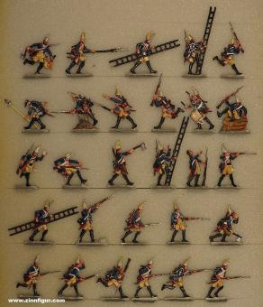 Berliner Zinnfiguren: Grenadiers street fighting, 1712 bis 1786