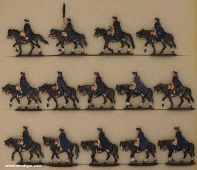 Berliner Zinnfiguren: Kürassiere im Wintermarsch, 1712 bis 1786