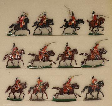 Kieler Zinnfiguren: Dragoner im Angriff, 1712 bis 1786