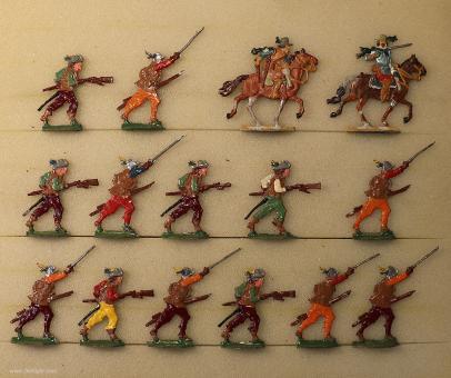 Kieler Zinnfiguren: Musketiers attacking, 1618 bis 1648