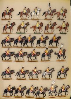 Kieler Zinnfiguren: Kürassiere im Marsch, 1712 bis 1786