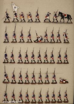 Verschiedene Hersteller: Musketiere vorgehend, 1712 bis 1786