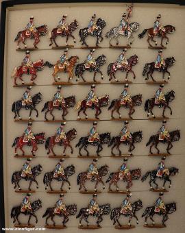 Kieler Zinnfiguren: Dragoner auf dem Marsch, 1712 bis 1786