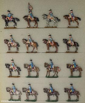 Kieler Zinnfiguren: Dragoner im Halt, 1712 bis 1786