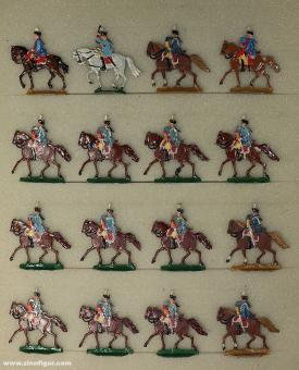 Kieler Zinnfiguren: Dragoner Säbel ziehend, 1712 bis 1786