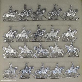 Kieler Zinnfiguren: Kürassiere im Trab, 1712 bis 1786