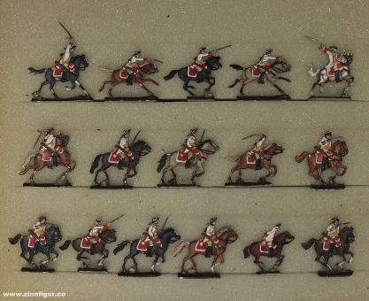 Verschiedene Hersteller: Kavallerie im Angriff 20mm, 1712 bis 1786
