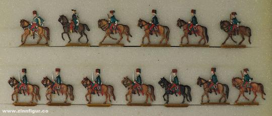 Verschiedene Hersteller: Husarenregiment Spleny 20mm, 1712 bis 1786