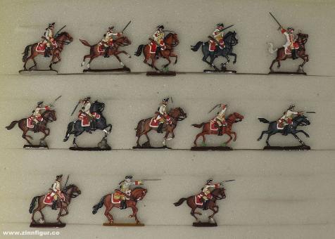 Verschiedene Hersteller: Cavalry charging 20mm, 1712 bis 1786