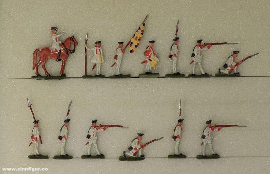 Diverse Hersteller: Deutsche Füsiliere feuernd 20mm, 1712 bis 1786