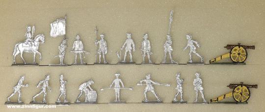 Diverse Hersteller: Zwei Geschützbedienungen 20mm, 1712 bis 1786