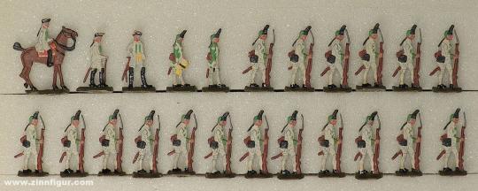 Diverse Hersteller: German grenadiers at the halt 20mm, 1712 bis 1786