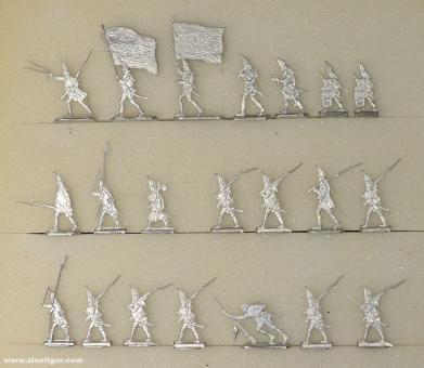Diverse Hersteller: Grenadiere vorgehend 20mm, 1712 bis 1786
