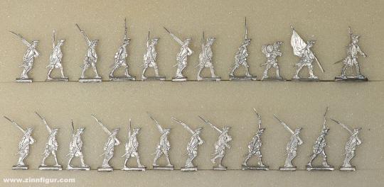 Diverse Hersteller: Musketiere auf dem Marsch 20mm, 1712 bis 1786