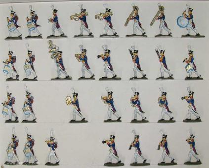 Kieler Zinnfiguren: Musik des 57. Regiments, 1804 bis 1815