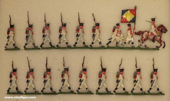 Kieler Zinnfiguren: Infanterie vorgehend, 1806 bis 1815