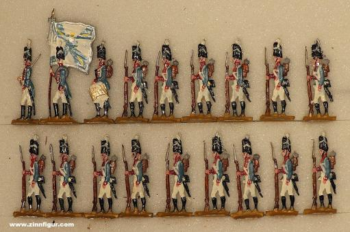 Kieler Zinnfiguren: Gardegrenadiere stehend, 1814 bis 1815