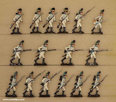 Scheibert: Deutsche Grenadiere vorgehend, 1804 bis 1815