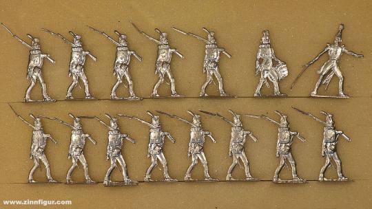 Rieche: Infanterie vorgehend, 1804 bis 1815