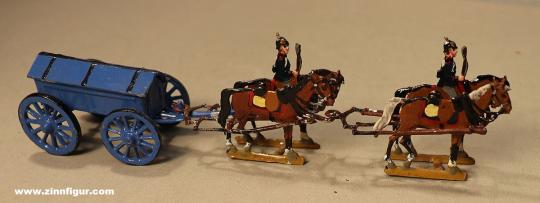 Verschiedene Hersteller: Ammunition wagon at the halt, 1870 bis 1871